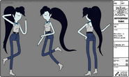 Modelsheet marceline - inbikeroutfit - withoutjacket