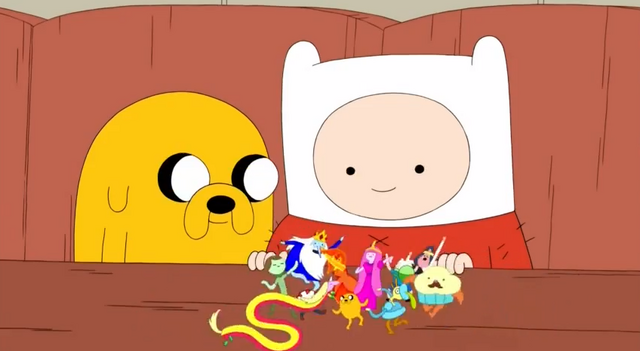 File:S5 e5 Finn and Jake watching the small characters-0.PNG