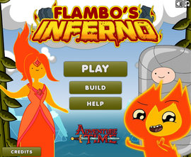 Flambo's Inferno title screen