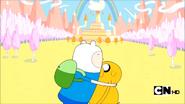 S2e19 Finn hugging Jake
