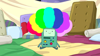 S5e16 BMO in rainbow wig