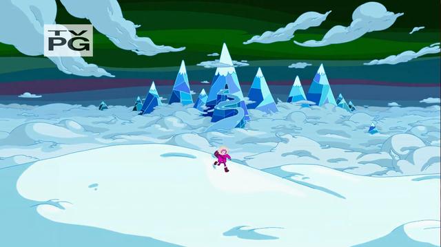 File:S4 E19 Princess Bubblegum in Ice Kingdom on a hill.png