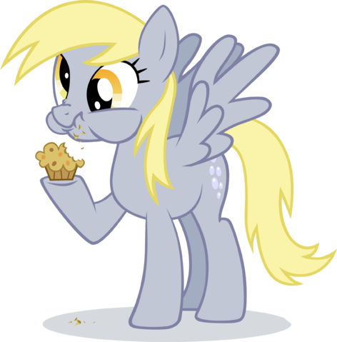 File:Derpy hooves eating muffin by ininko-d53o4zo.png