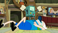 S5e6 BMO w bread jumping on Finns belly.png