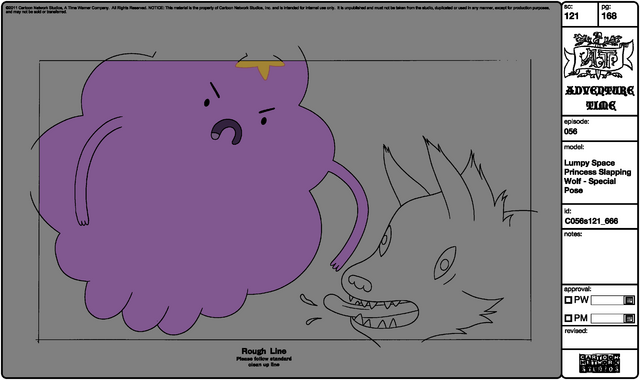 File:Modelsheet Lumpy Space Princess Slapping Wolf - Special Pose.png