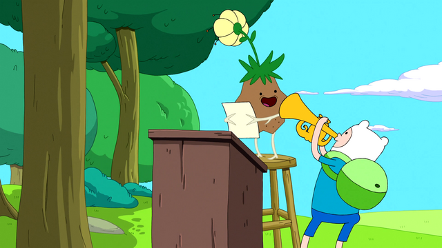 File:S5e19 Finn and Jake cheering up Grass Person.png