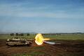 Merkava IIID opens fire.jpg