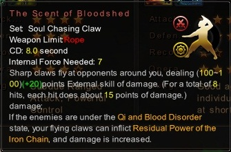 (Soul Chasing Claw) The Scent of Bloodshed (Description)