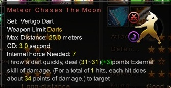 (Vertigo Dart) Meteor Chases the Moon (Description)
