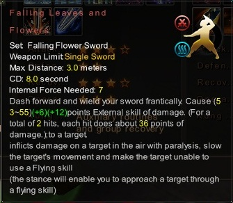 (Falling Flower Sword) Falling Leaves and Flowers (Description)