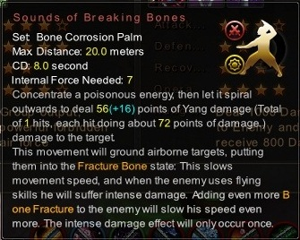 (Bone Corrosion Palm) Sounds of Breaking Bones (Description)