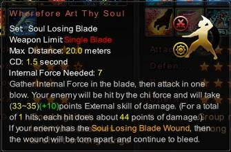 (Soul Losing Blade) Wherefore Art Thy Soul (Description)