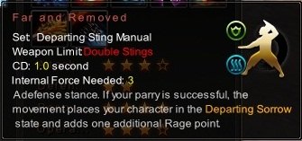 (Departing Sting Manual) Far and Removed (Description)