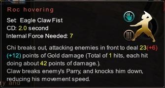 (Eagle Claw Fist) Roc Hovering (Description)