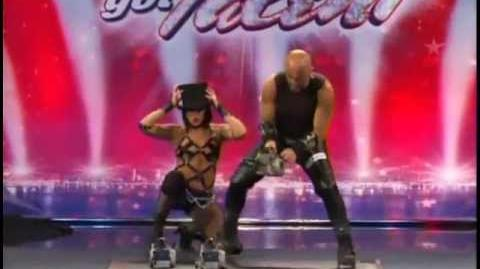 America's Got Talent Mario & Jenny Sexy & Dangerous Chainsaw Act