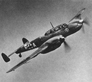 Bf 110 Postkarte Ausschnitt