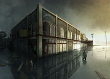 Alan Wake 2 concept art flood