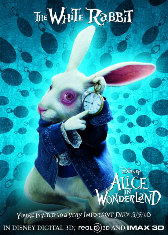White Rabbit Alice Tim Burton The White Rabbit Alice in