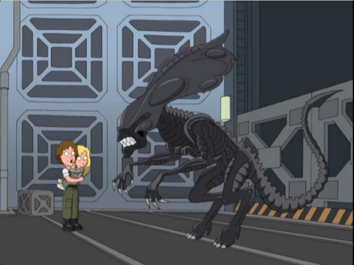 Xenomorph Queen Prometheus The Alien Queen in Family Guy