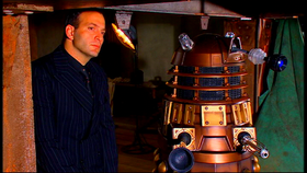 Mr Diagoras with Dalek Caan.