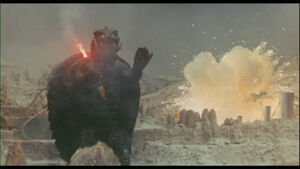 Gamera fights on Terra.