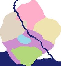 Devonshire map coloured regions