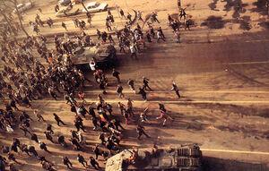 Romanian Revolution 1989 Demonstrators