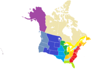 CNA Provinces map