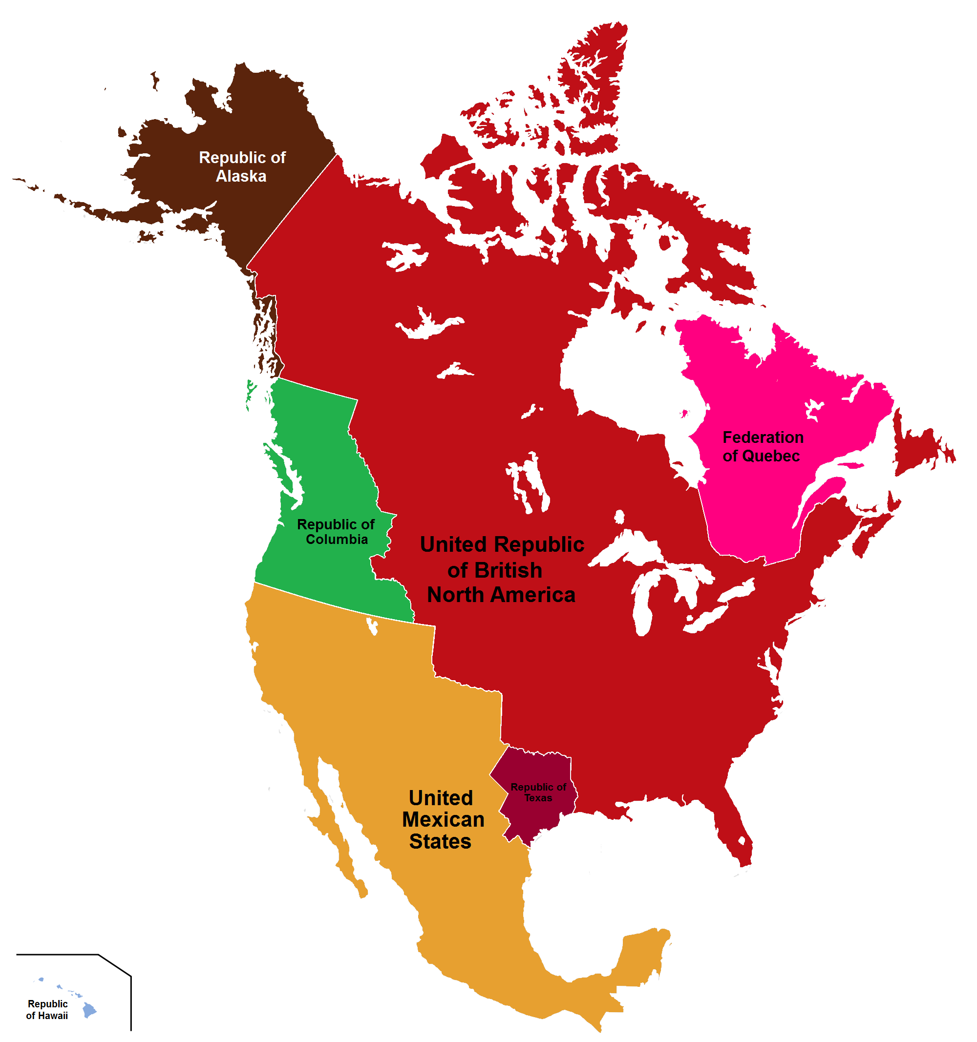 Image Map Of Their British America Png Alternative