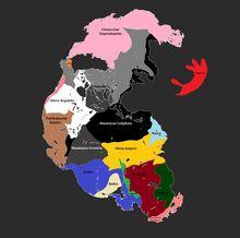 Pangea 900 AD