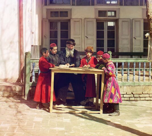 File:Jewish Children with their Teacher in Samarkand.jpg