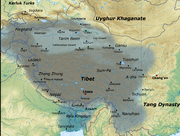 Tibetan empire greatest extent 780s-790s CE