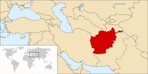 Location of Afghanistan OTL