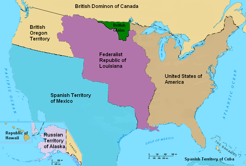 Image  North America In 1821PNG  Alternative History