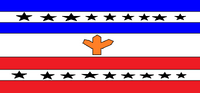 Flag of N American Confederation peace