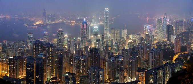 Hong Kong Skyline Restitch - Dec 2007