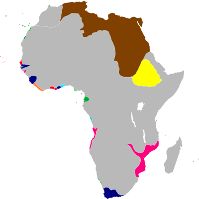 Scramble for Africa Map 1827