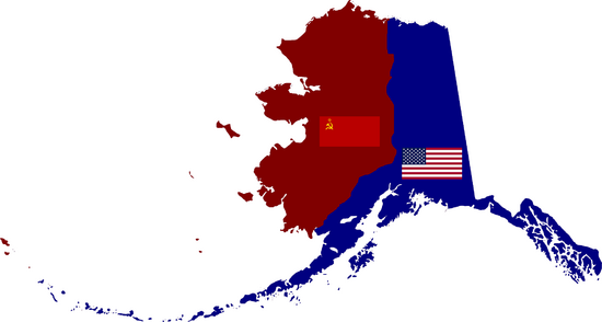 Map of Alaska - Soviet, US Zones