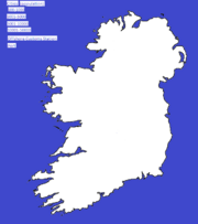 Eire Map Template