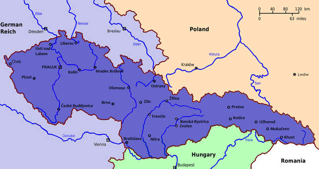 File:Map of Czechoslovakia 1938.png