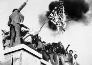 Iran hostage crisis flag burning