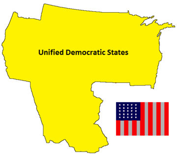 Unified Democratic States Map