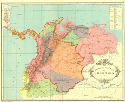 Gran Colombia map 1824