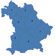 Bavarian Admin Districts