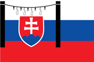 Slovakian Flag (World Rising Sun)