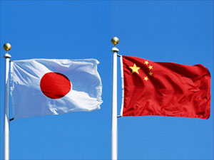 China japan flags web