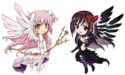 Ultimate madoka and devil homura chibi ver by d tomoyo-d7d8ash