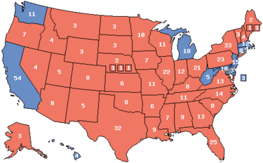 1992 Electoral Map (Ford Momentum)