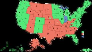Election Map, 2008 (1861 HF)