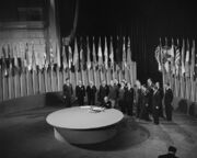League of Nations Charter signing